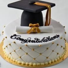 Graduation celebration party, with cake