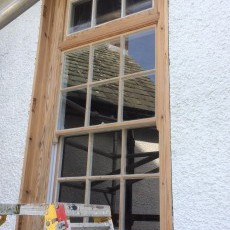 A lot of work went into restoring the 63 sash windows in Ty Gwyn