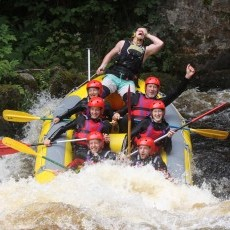 White water rafting in Bala is an absolute must - that's me top left (Linda)