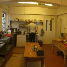 The original kitchen at Ty Gwyn - 2014