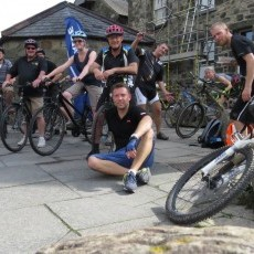 Bike hire in Dolgellau - getting ready for the Mawddach trail to Barmouth