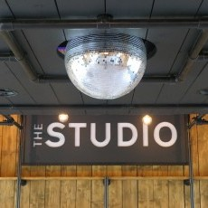 Sonos sound system, disco light and glitter ball - what else could you ask for!
