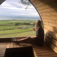 The view from the sauna is Barmouth, Abersoch, Pwllheli and Bardsey Island