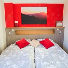 The Red Room - beds can be single or a Super King!