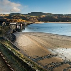 The rail/pedestrian bridge from Morfa Mawddach to Barmouth - a great walk for Fish & Chips!