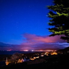 The view of Barmouth is just as amazing at night!
