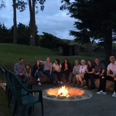 The new fire pit at Ty Gwyn - we will provide you with plenty of logs for this, the hot tub, wood burner and sauna.