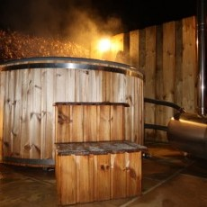 The wood burning Hot Tub will certainly add to the party feel - light the stove and watch the temperature rise.